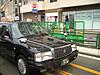 东京街头出租车,大部分是丰田皇冠